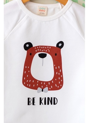 Nou Nou Be Kind Mevsimlik Sweatshirt Ekru